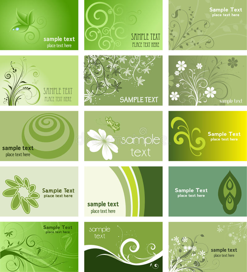 Nature themed business cards stock vector illustration of download nature themed business cards stock vector illustration of abstract flower 13696102 reheart Image collections