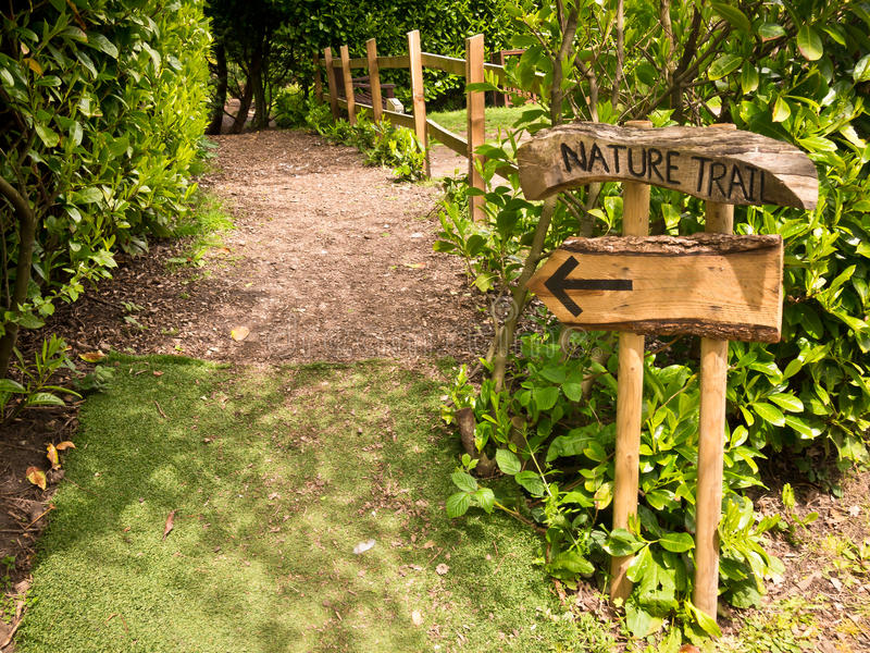 Download Nature Trail Sign stock image. Image of wooden, britain - 27764053