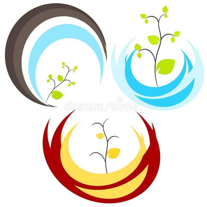 Nature tree symbol illustration royalty free stock photos