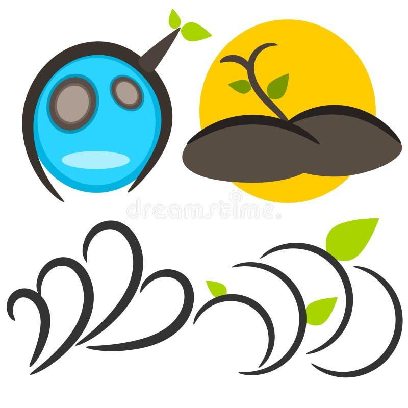 Nature tree symbol illustration royalty free stock photo