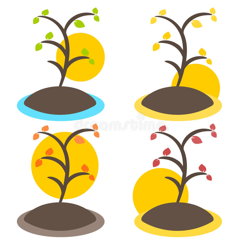 Nature tree symbol illustration royalty free stock image