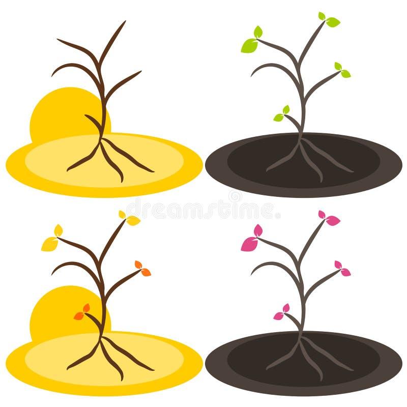 Nature tree symbol illustration stock images