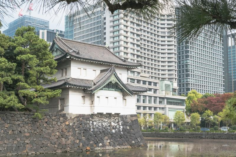 Nature or urban background with view of park in Tokyo, Japan stock photos