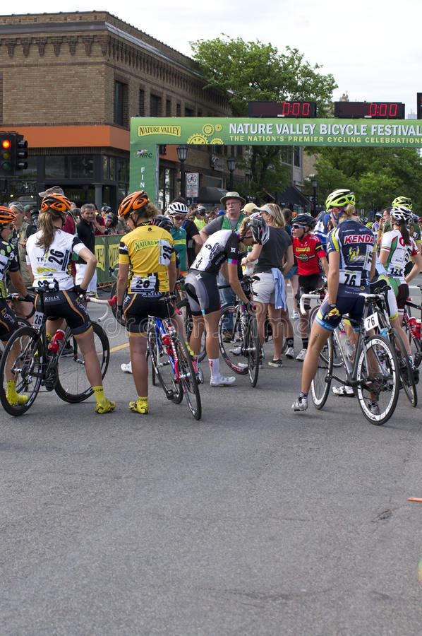Nature Valley Grand Prix Participants royalty free stock photo