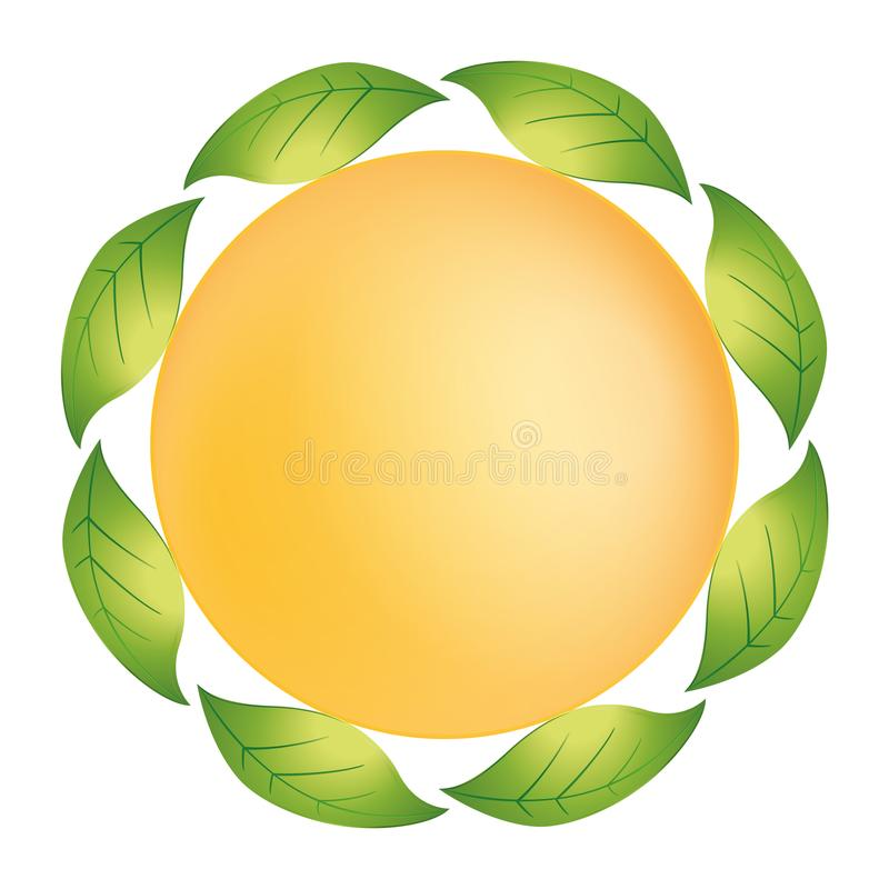 The nature it is of the vegetation of the sun and the water - Logo royalty free illustration
