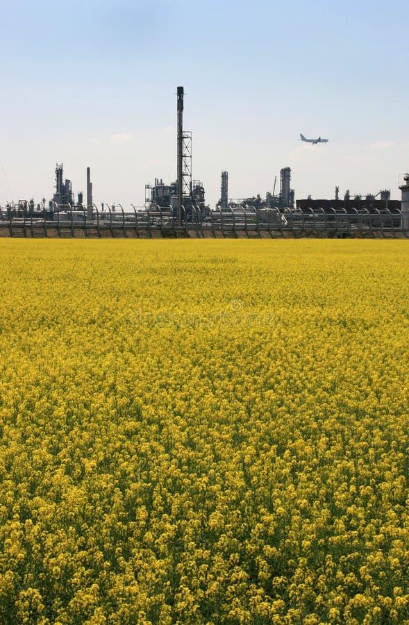 Nature versus Industry 2 stock image