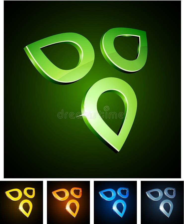 Free Nature Vibrant Emblems. Royalty Free Stock Image - 20718736