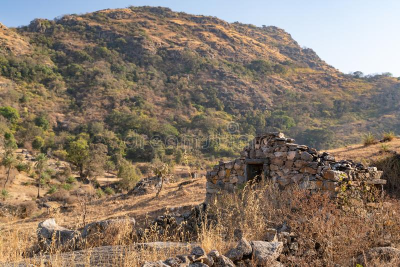 The nature view of Mount Abu area stock photos