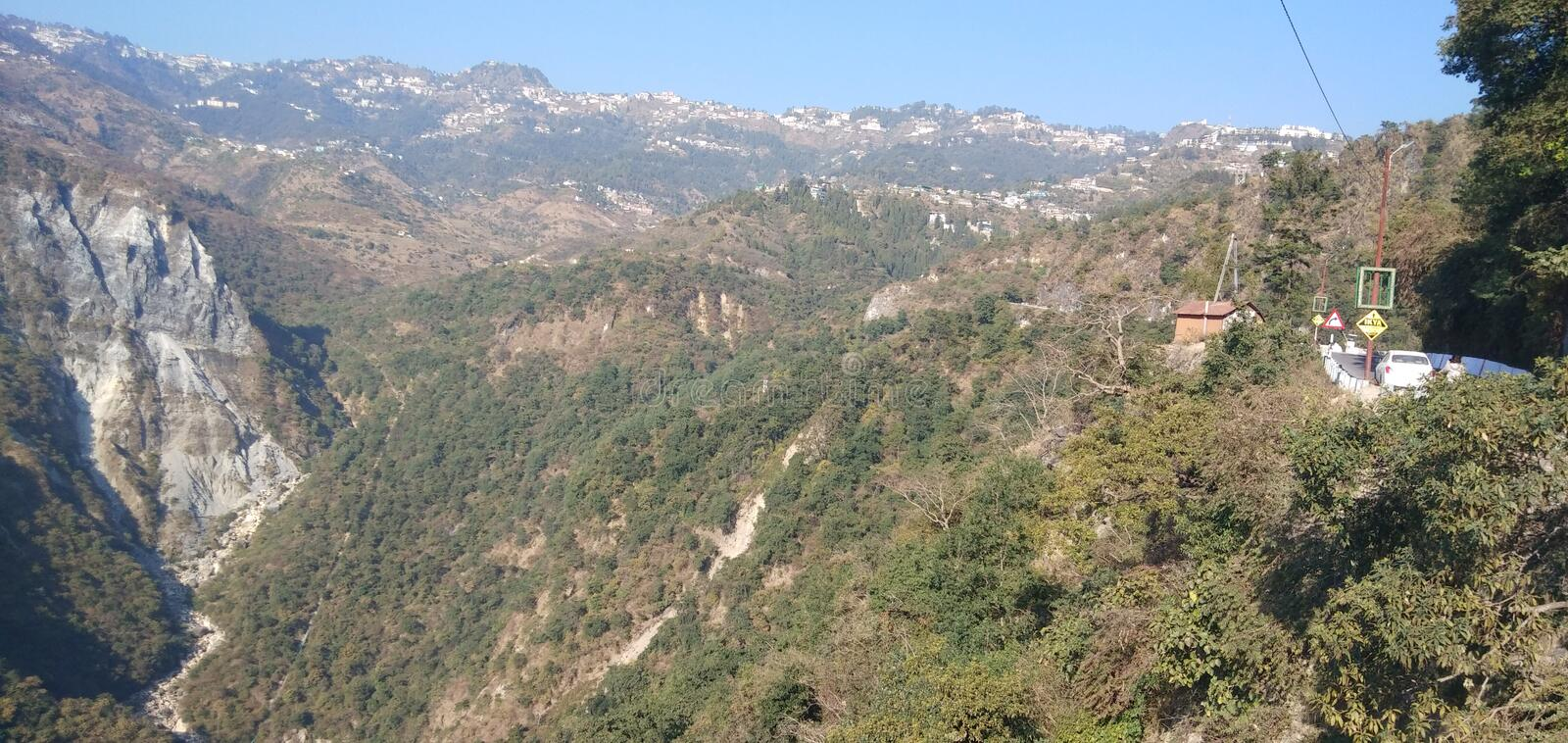 Nature view mussoorie royalty free stock photo