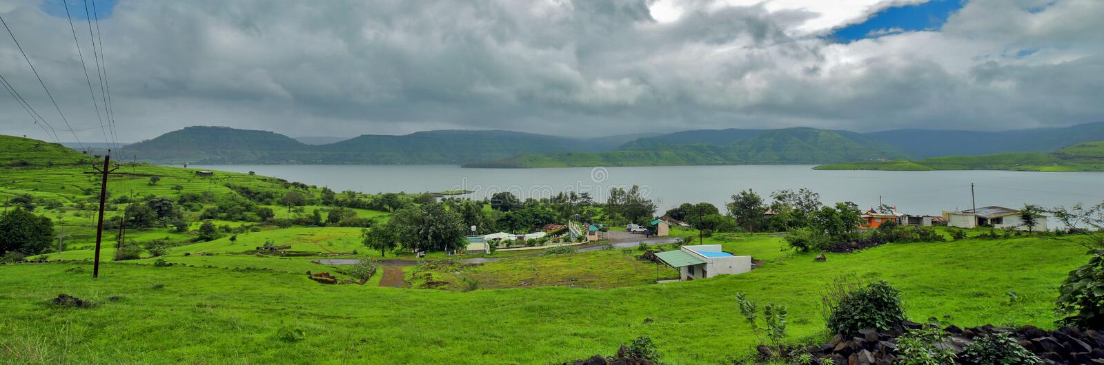 Nature view Satara. Nature view in sataratorest  seen rain view stock image