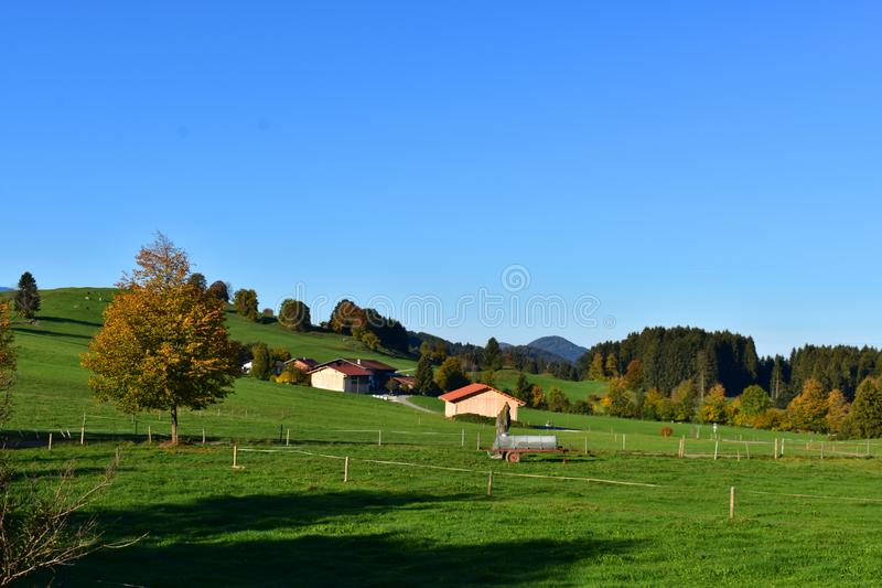 Nature and villages in the Alpine region of Bavaria, Germany. royalty free stock photo