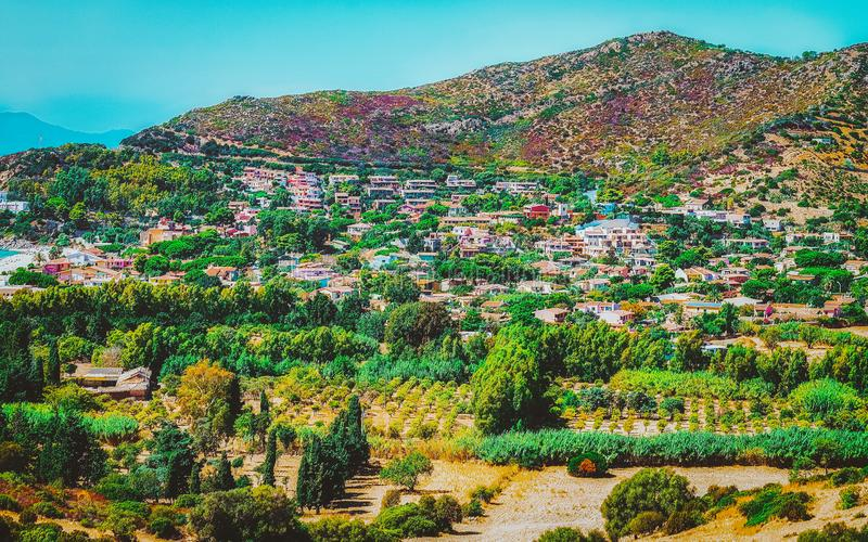 Nature of Villasimius on Sardinia Island in Italy. In summer. Cagliari region royalty free stock photography