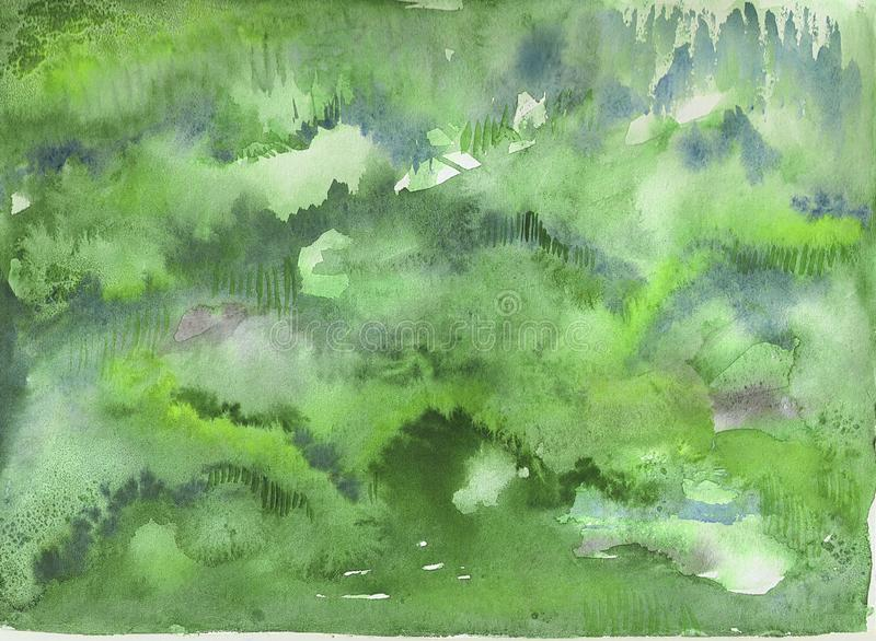 Nature watercolor background stock photography