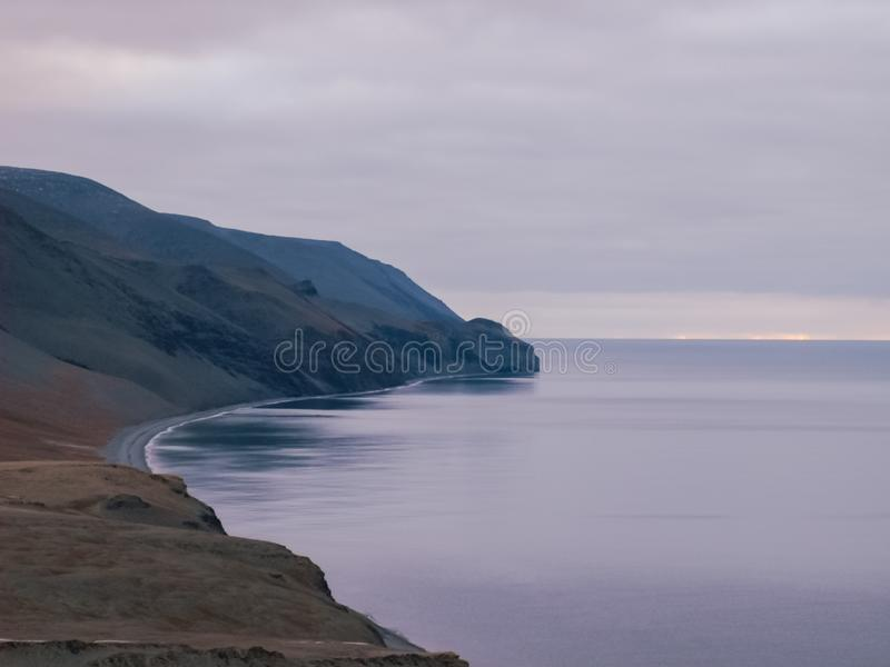 The nature of Wrangel Island, landscape on Wrangel Island. The nature of Wrangel Island, the landscape on Wrangel Island royalty free stock photography