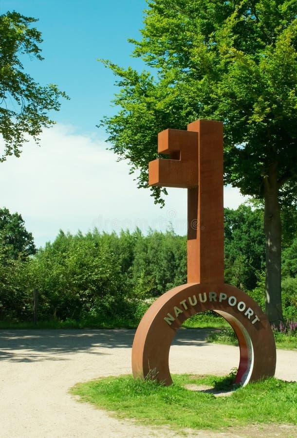 ` Naturegate Natuurpoort ` De Plaetse in den Niederlanden lizenzfreies stockbild