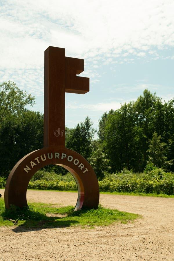 ` Naturegate Natuurpoort ` De Plaetse in den Niederlanden lizenzfreie stockfotografie
