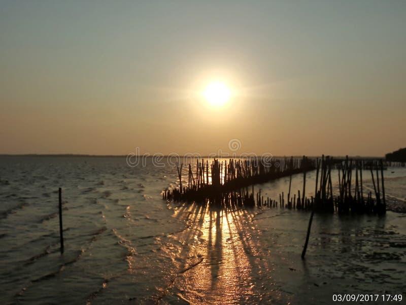 Naturel sunsine on sea in donhoylord travel royalty free stock photography
