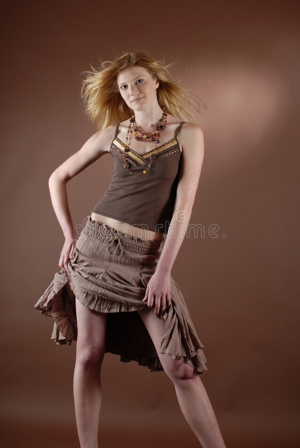 Naturell fashion girl royalty free stock photography