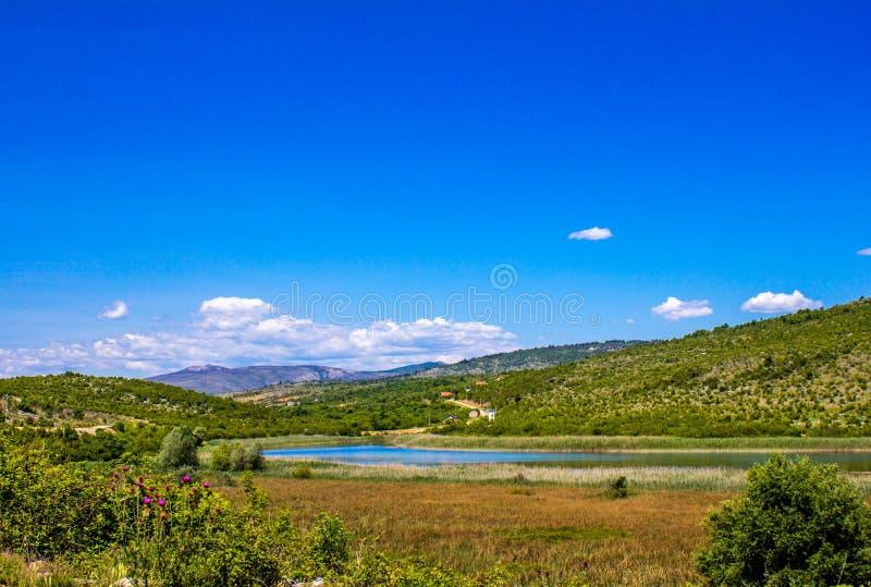 Naturen parkerar den Hutovo blatoen, Bosnien och Hercegovina royaltyfria bilder