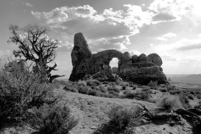 One of natures inspiring pieces of art in arches national park royalty free stock photo