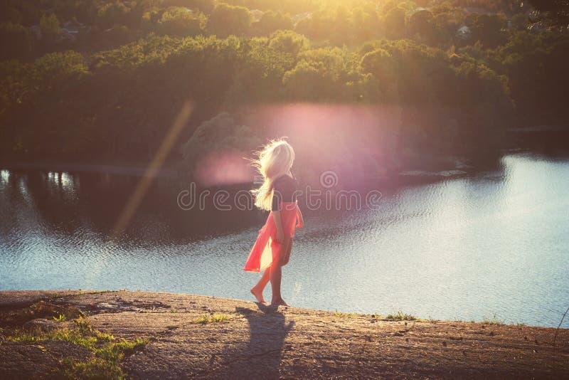 Natureza, água, céu, luz fotografia de stock royalty free