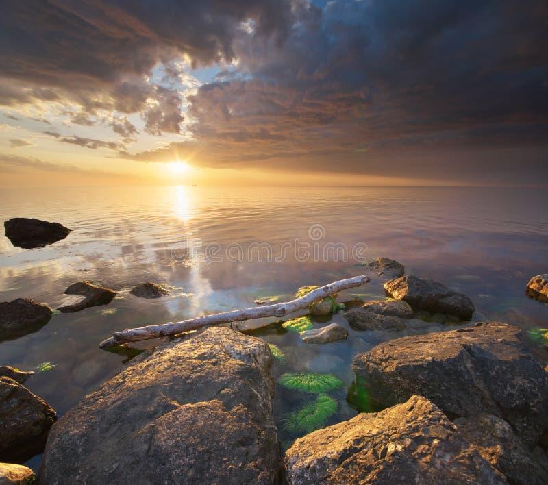 Natureza bonita do seascape foto de stock