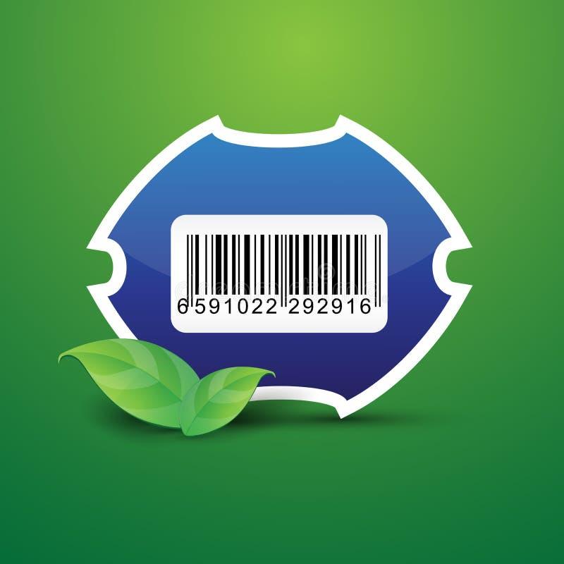 Natureza da etiqueta do Tag do código de barras ilustração stock