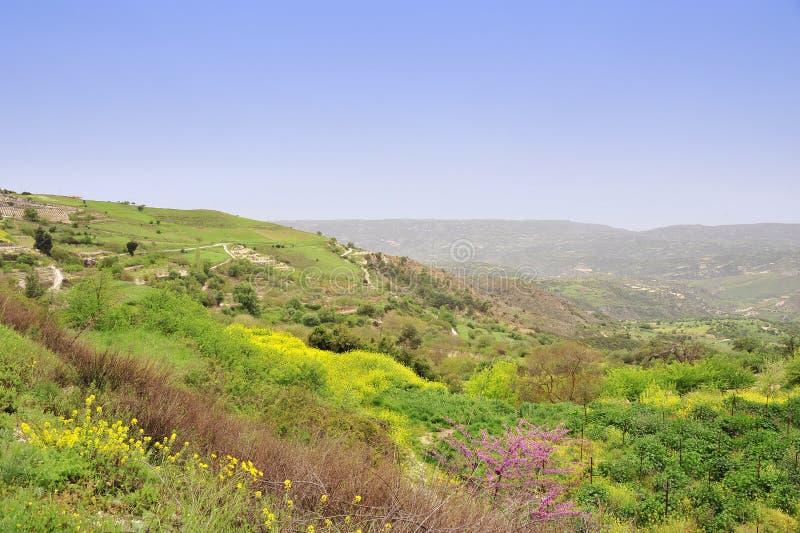 Natureza da montanha de Chipre imagens de stock