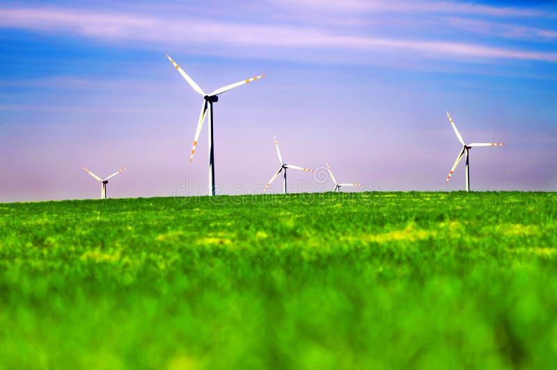 Natureza das turbinas de vento imagem de stock