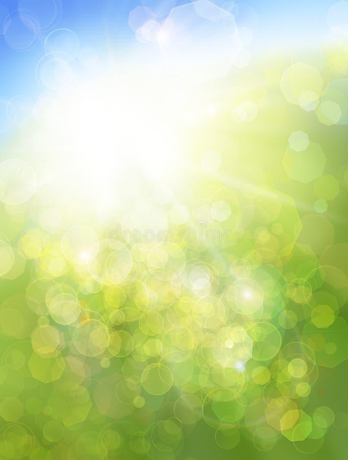 Natureza de Eco/verde e defocused abstrato azul imagens de stock royalty free