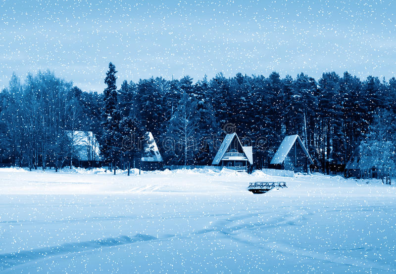 Natureza do inverno, país foto de stock royalty free