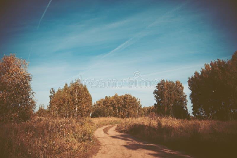 Natureza do outono com céu bonito foto de stock