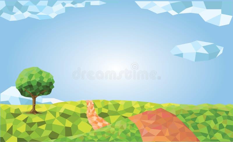 Natureza do polígono da grama verde fotografia de stock