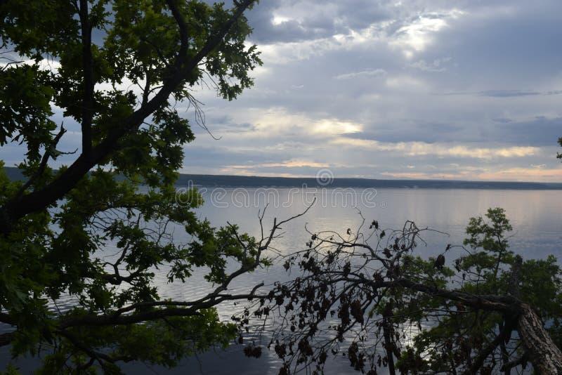 Natureza do Rio Volga imagem de stock