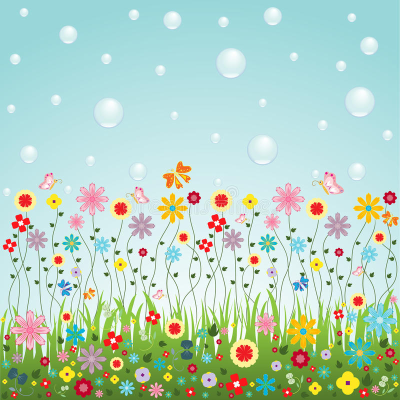 Natureza do vetor das flores para a decoração bonito do cartão ou do Web site ilustração stock