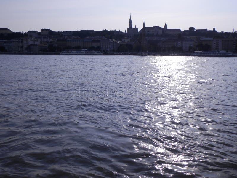 Natureza, Duna, riveron Hungria foto de stock