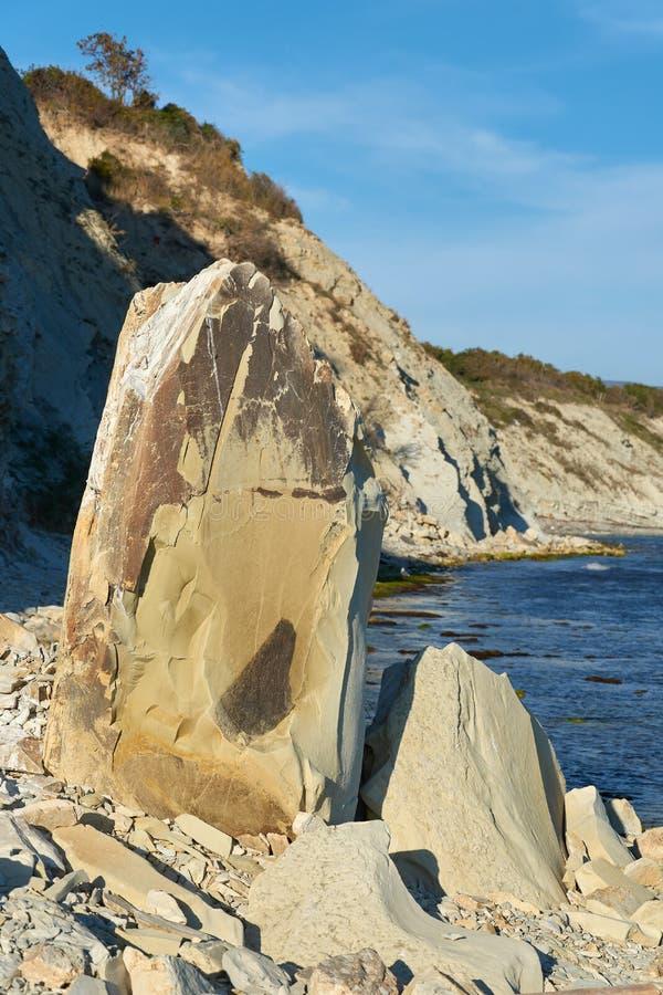 Natureza e vista da costa do Mar Negro foto de stock