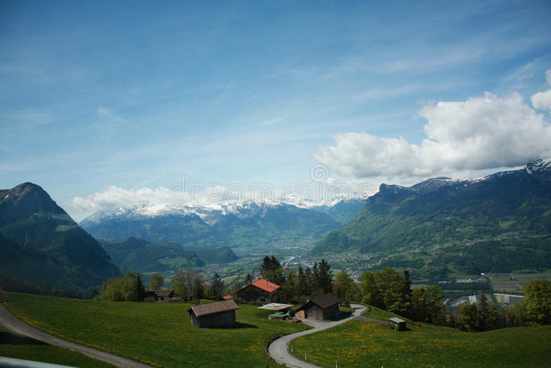 Natureza em Switzerland foto de stock royalty free