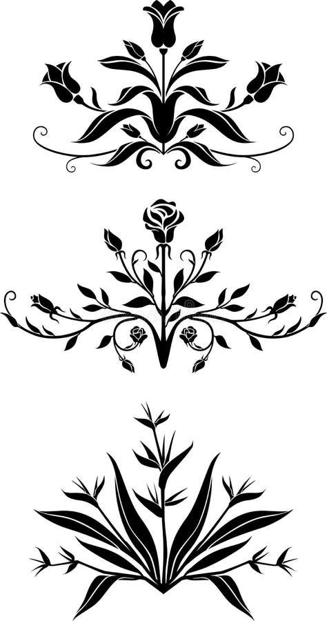 A natureza floresce a parte Center ilustração royalty free
