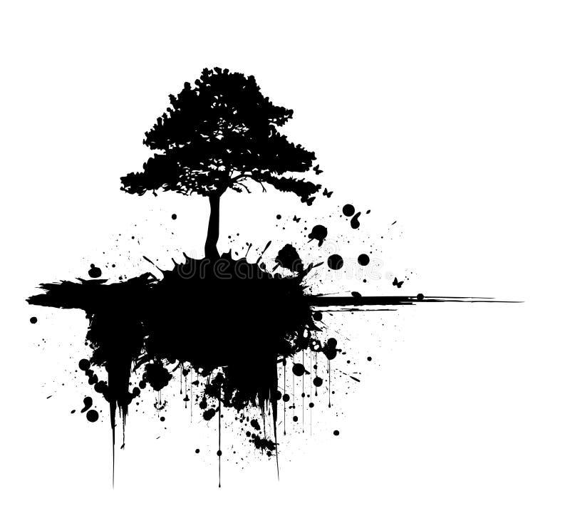 Natureza moderna do grunge ilustração royalty free