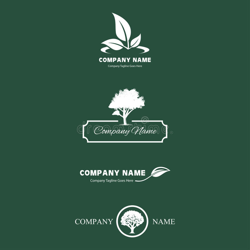 Natureza moderna Logo Bundle ilustração royalty free