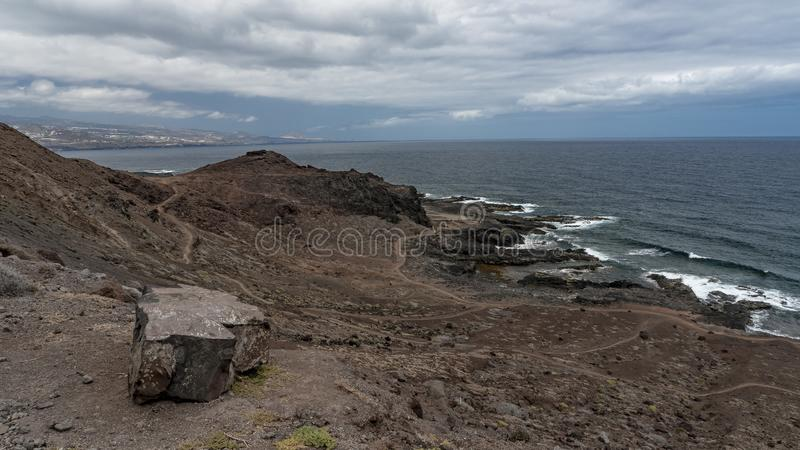Natureza na zona Isleta de Gran Canaria foto de stock royalty free