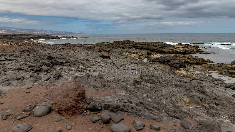 Natureza na zona Isleta de Gran Canaria imagens de stock