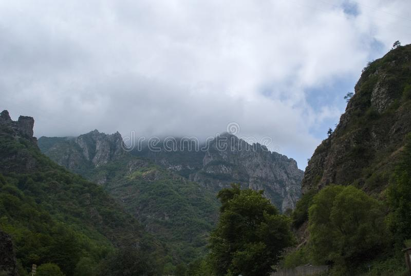 Natureza perto de Kajaran na província Armênia de Syunik fotografia de stock