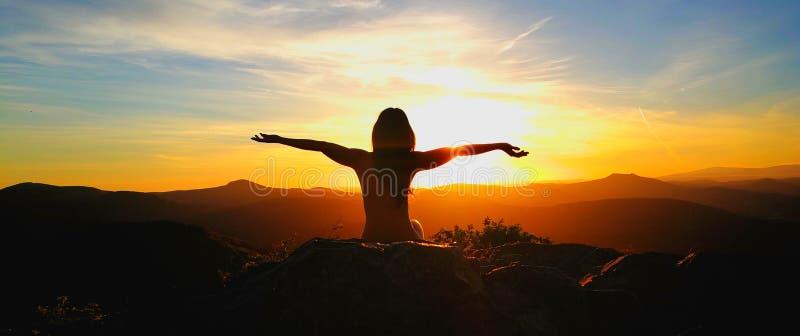 Natureza, por do sol, cores imagens de stock royalty free