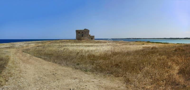 Natureza selvagem do panorama da baía do guaceto da torre imagens de stock royalty free