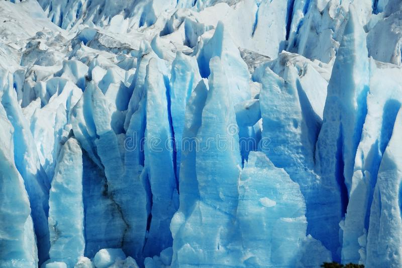 A natureza surpreendente de Perito Moreno Glacier fotos de stock royalty free