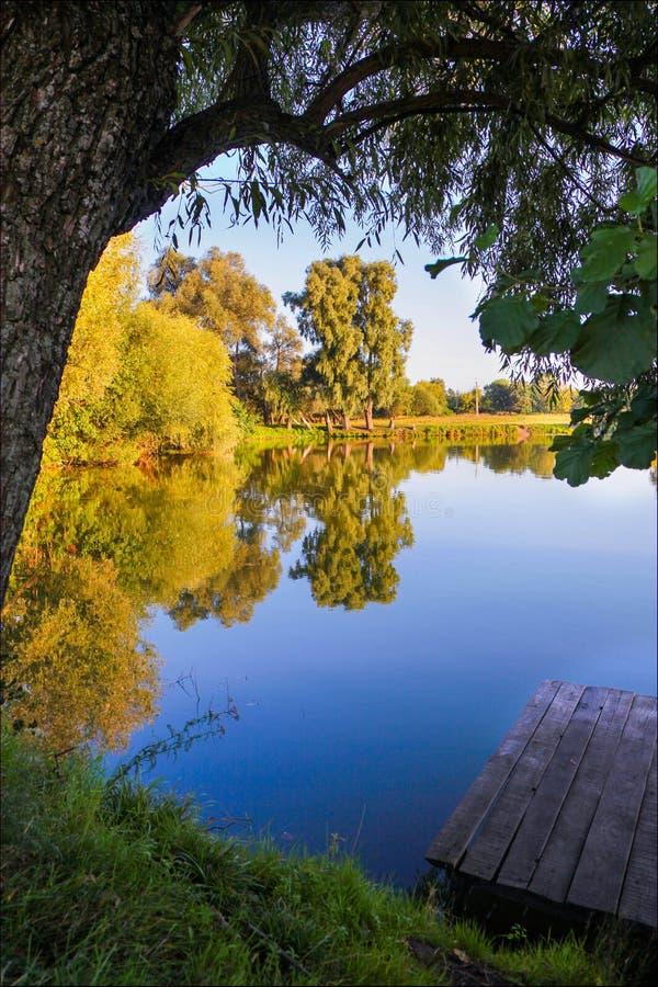 Natureza Ucrânia Lago imagens de stock