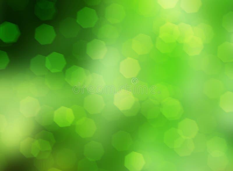 natureza verde com bokeh da faísca, fundo das luzes suaves ilustração royalty free