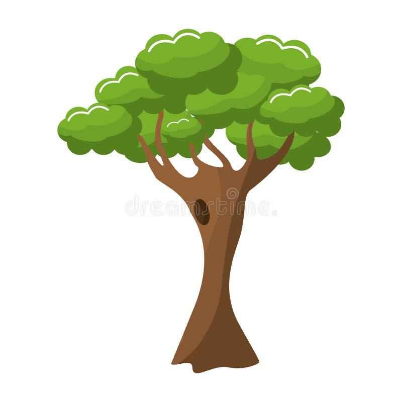 Natureza verde da árvore ilustração royalty free